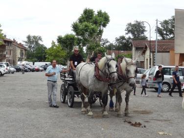 Jean-Pierre Duprat prêt à faire un tour de calèche