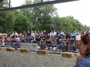 Le public attentif aux spectacles équestres