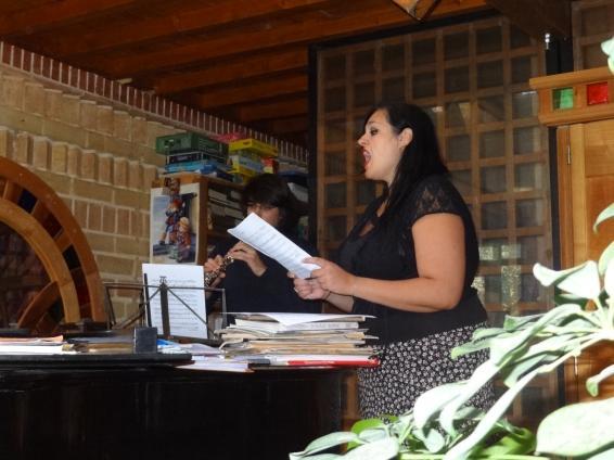 Mariagerarda Festa en répétition avec Joseph Martin