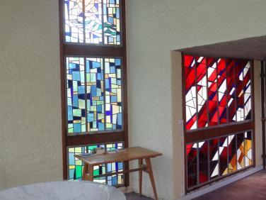 Vitraux dans l'église du Sacré Coeur